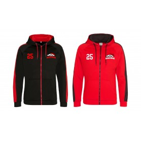 Aschaffenburg Stallions - Embroidered Sports Performance Zip Hoodie