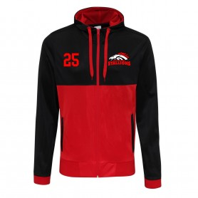 Aschaffenburg Stallions - Embroidered Retro Track Zip Hoodie