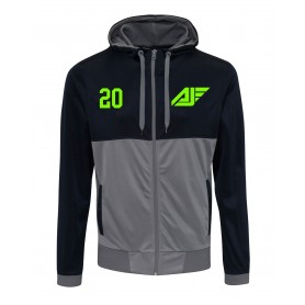 Antrim Jets - Embroidered Retro Track Zip Hoodie
