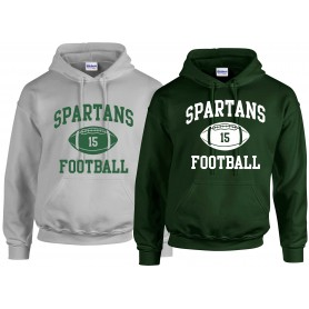 Shape Spartans - Custom Ball Logo Hoodie 1