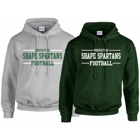 Shape Spartans - Text Logo Hoodie 2