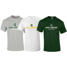 Shape Spartans - Text Logo T Shirt 1