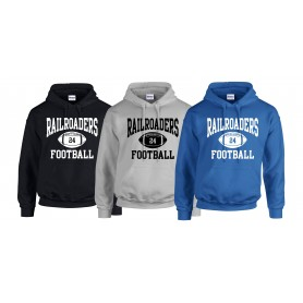 Crewe Railroaders - Custom Ball Logo Hoodie 1