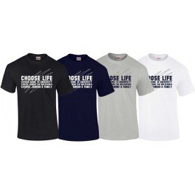 Heriot Watt Wolverines - Choose Life T Shirt