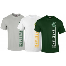 Shape Spartans - Vertical Text Logo T Shirt
