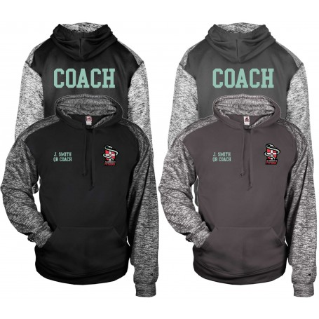 Cambridge Pythons - Embroidered Coaches Sports Blend Text Logo Hoodie