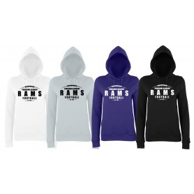 Yorkshire Academy Rams - Ladies Fit Laces Logo Hoodie