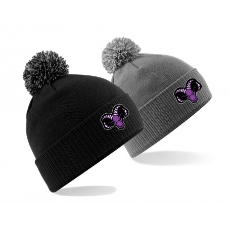 Yorkshire Academy Rams - Embroidered Bobble Hat