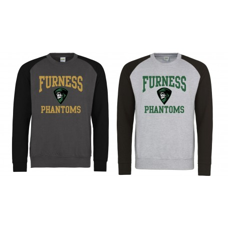 Furness Phantoms - Printed Football Logo Baseball Sweat Shirt