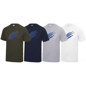 Heriot-Watt Wolverines - Performance Claw Logo T Shirt