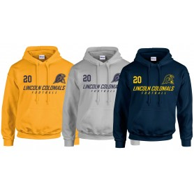 Lincoln Colonials - Custom Text Logo Hoodie