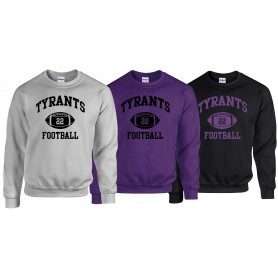 Manchester Tyrants - Custom Ball 1 Logo Sweat Shirt