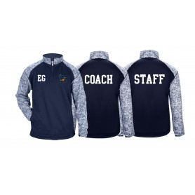 Greenwich Marines - Print and Embroidered Coach or Staff Tonal Blend Sport 1/4 Zip