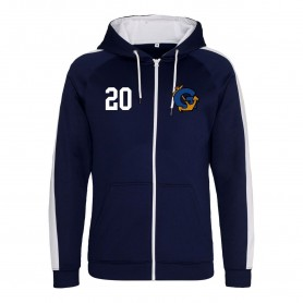 Greenwich Mariners - Embroidered Sports Performance Zip Hoodie
