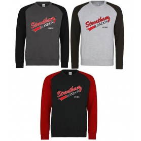 Streatham Youth Ice Hockey Club - Full Logo Baseball Sweat Shirt