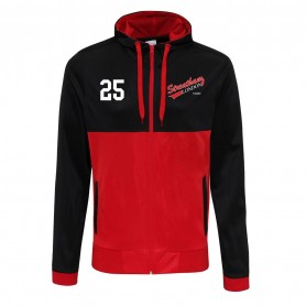 Streatham Youth Ice Hockey Club - Embroidered Retro Track Zip Hoodie