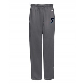 Morecambe Bay Storm - Embroidered Badger Open Bottom Joggers
