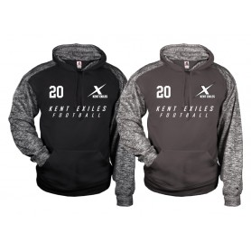 Kent Exiles - Printed Sports Blend Text Logo Hoodie