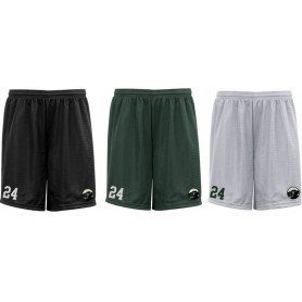 Lincolnshire Hellfire - Embroidered Mesh Shorts
