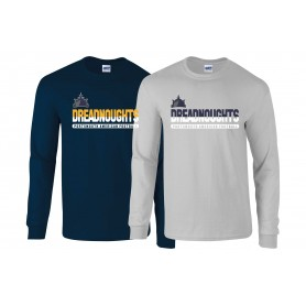 Portsmouth Dreadnoughts Women - Atheltic Split Text Long Sleeve T Shirt
