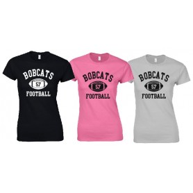 Bournemouth Bobcats - Women's Fit Custom Ball Logo T Shirt 1