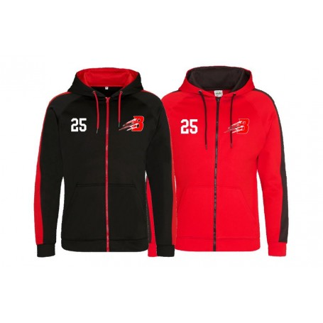 Bournemouth Bobcats - Embroidered Sports Performance Zip Hoodie