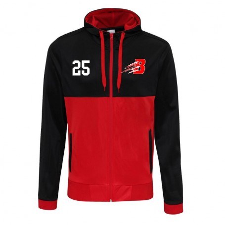 Bournemouth Bobcats - Embroidered Retro Track Zip Hoodie