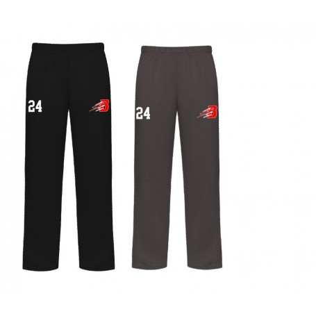 Bournemouth Bobcats - Embroidered Badger Open Bottom Joggers