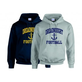 Portsmouth Dreadnoughts Women - Anchor Football Logo Hoodie