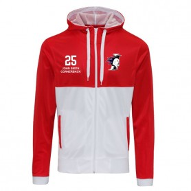 copy of Birmingham Lions - Customised Embroidered Retro Track Zip Hoodie