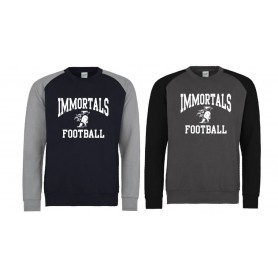 copy of Kent Falcons - Printed Football Logo Baseball Sweat Shirt