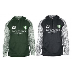 010 Trojans - Printed Sports Blend Football Logo Hoodie