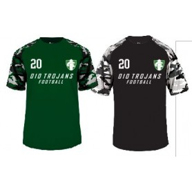 010 Trojans - Printed Camo Performance T Shirt