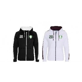 010 Trojans - Embroidered Sports Performance Zip Hoodie