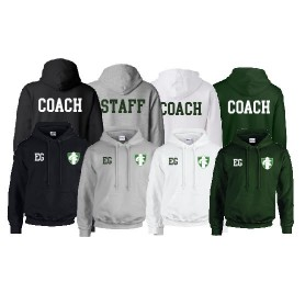 010 Trojans - Print and Embroidered coach or staff Hoodie