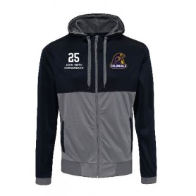 Lincoln Colonials - Embroidered Retro Track Zip Hoodie