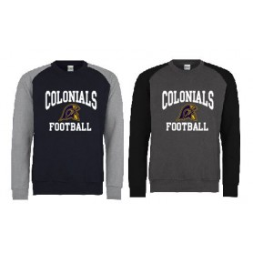 Lincoln Colonials - Printed Football Logo Baseball Sweat Shirt