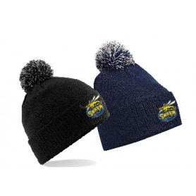 Manchester Swarm - Embroidered Bobble Hat