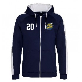 Manchester Swarm - Embroidered Sports Performance Zip Hoodie