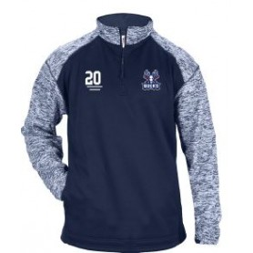 Milton Keynes Bucks - Embroidered Tonal Blend Sport 1/4 Zip