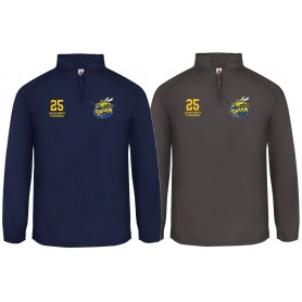 Manchester Swarm - Custom Embroidered 1/4 Zip Poly Fleece Pullover