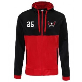 Eagles de L'Aigles - Embroidered Retro Track Zip Hoodie