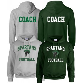 Afc Spartans - Coaches Football Logo Hoodie