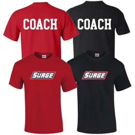 Staffordshire Surge - Coaches Full Logo With 'Coach' T Shirt