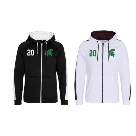 Halton Spartans - Embroidered Sports Performance Zip Hoodie