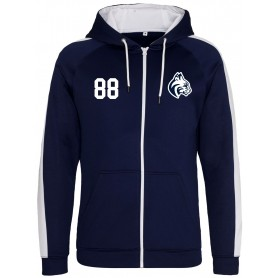 BU Bobcats - Embroidered Sports Performance Zip Hoodie