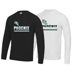 Uel Phoenix - Performance Split Text Logo Longsleeve T Shirt