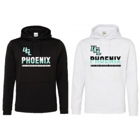 Uel Phoenix - Printed Split Text Logo Performance Hoodie