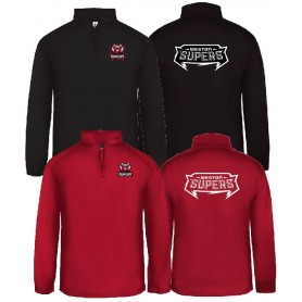 Weston Supers - Embroidered And Printed 1/4 Zip Poly Fleece Pullover