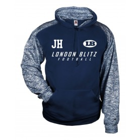 London Blitz - Coaches Printed Logo Sport Blend Text Logo Hoodie
